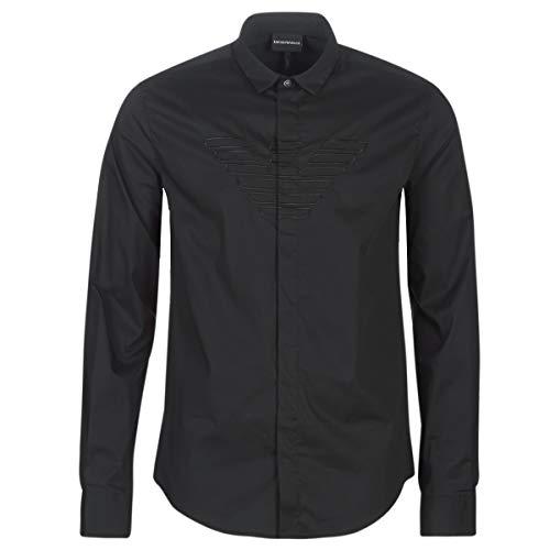 Emporio Armani 6G1C65-1NQPZ-1001 Hemden Hommes Schwarz - XXL - Langärmelige Hemden