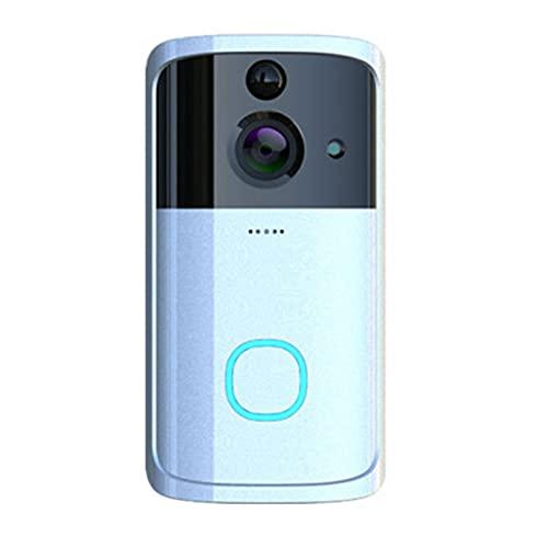 OUYA Cámara De Timbre con Video WiFi, Cámara De Puerta Inteligente 720P con Detección De Movimiento, Visión Nocturna, Lente Ultra Gran Angular De 166 °,B