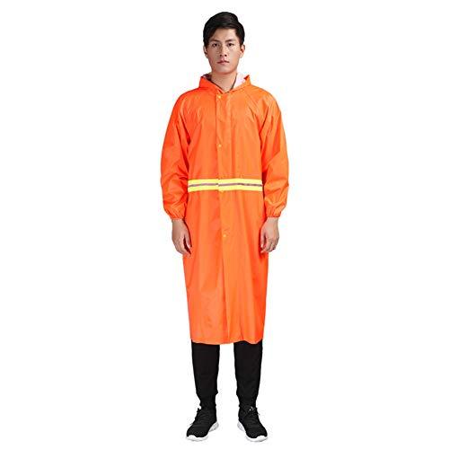 Grebest Oxford Tuch Reflektierende Streifen Kapuze Regenmantel Tuch Reflektierende Streifen Kapuze Regenmantel Poncho Arbeitsschutzkleidung Gelb XXXL