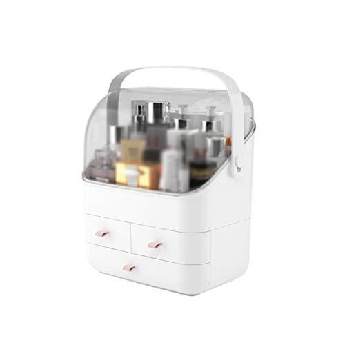 Maquillage des boîtes de rangement Compartiment de tiroir de boîte de rangement cosmétique multifonctionnel à trois couches pour meuble-lavabo et comptoir ( Couleur : Blanc , Size : 28x18x35.5cm )