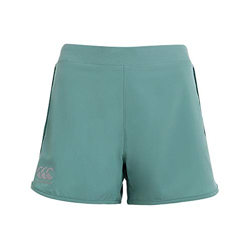 Canterbury Damen Woven Gym Training Shorts, Ölblau, 18