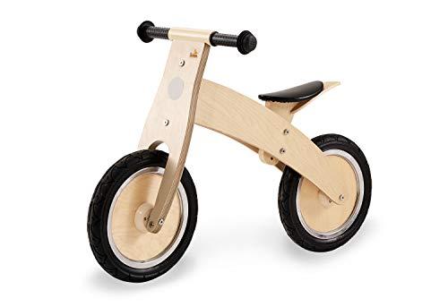 Pinolino 239471 Laufrad Lino, klar lackiert, aus Holz, unplattbare Bereifung, umbaubar vom Chopper zum Laufrad, für Kinder von 2 – 5 Jahren