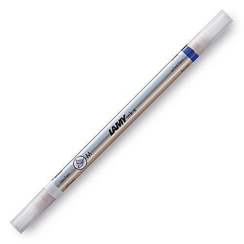 LAMY ink-x Borrador de tinta – Borrador de tinta Azure/Cosmic de plástico con punta de borrado y punta de corrección – Punta M