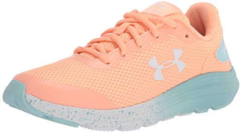 Under Armour Girls Grade School Surge 2 Fade Running Shoe, Playful Peach (800)/White, 5.5 Big Kid