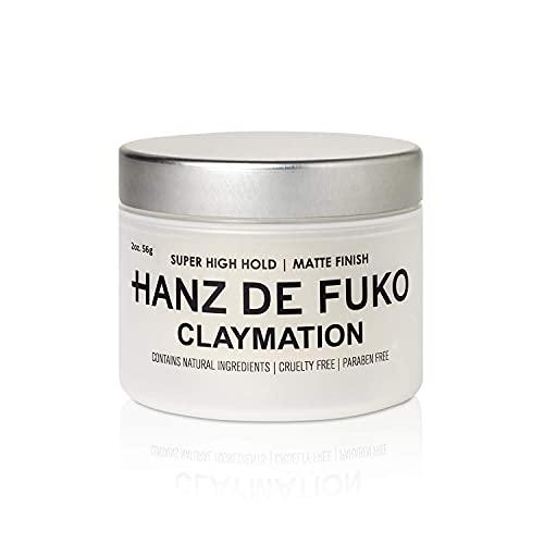 Hanz de Fuko Claymation- Premium Mens Hair Styling Clay with Matte Finish (2 oz) Cruelty Free