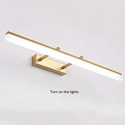die Ernte vor Spiegeln Das Licht, Badezimmer Spiegel Schrank Schrank Beleuchtungslampen Spiegel/Wasserdichte Led Anti-Fog Skalierbare Länge, W-L, Gold-40 cm (15,7 Zoll)