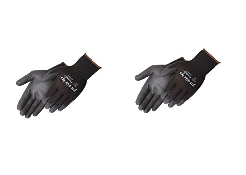 Liberty P-Grip Ultra-Thin Polyurethane Palm Coated Glove with 13-Gauge Nylon/Polyester Shell, Large, Black (Pack of 24)