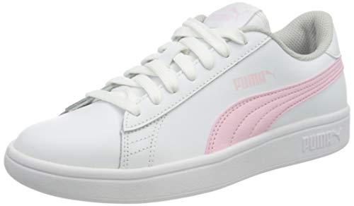 PUMA Smash v2 L Jr, Zapatillas, White-Pink Lady, 39 EU