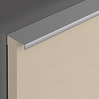 Kantengriff Tirador Armario Manilla de la Puerta - Aluminio Plata Anodizada, 5 Stück - 40 x 42 mm: Amazon.es: Bricolaje y herramientas