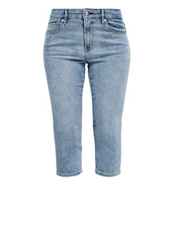 s.Oliver RED Label Damen Slim Fit: Capri-Stretchjeans Blue 42