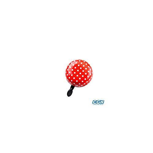 Motodak Ding-Dong Atoo bel, rood/wit, 80 mm