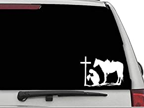 Decals USA Praying Cowgirl #2 Decal Sticker for Car and Truck Windows and Laptops