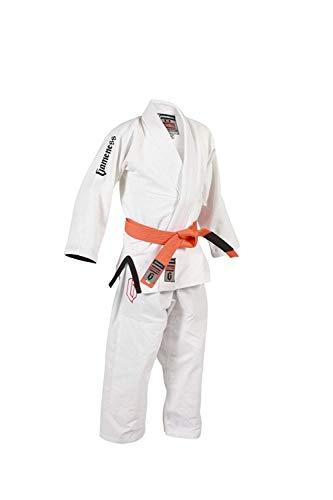 Gameness Aire Niño BJJ Gi Blanco G1302 Kimono Uniforme Jiu-Jitsu Brasileño Vendido por Minotaurfightstore - 000