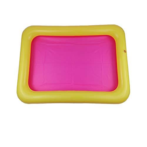 Bandeja de arena inflable Castillo Mesa móvil Caja de arena de PVC Bandeja sensorial Juguetes divertidos para jugar en el interior Bandeja de piscina para niños