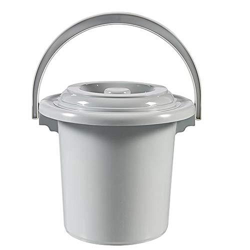 Toiletteneimer 5 Liter, Eimer, Toilette ,Campingtoilette tragbare Toilette mobiles WC 5l Reisetoilette Outdoor Reise Klo Campingklo Hygieneeimer für Erwachsene Kinder mit Deckel Chemietoilette