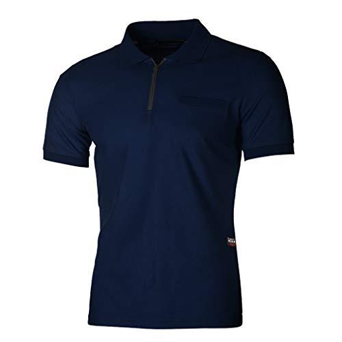 waotier Camiseta De Manga Corta De Hombre Camiseta con Cremallera Y Bolsillo con Cremallera para Hombre Ropa Moderno