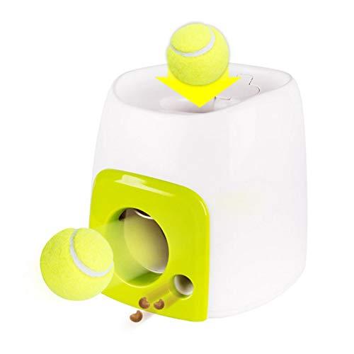 NGwenyicanI Pelota de tenis interactiva 2 en 1, juguete lanzador de perro, juguete para mascotas, lanzador automático de pelotas de mascotas, dispositivo de emisión.