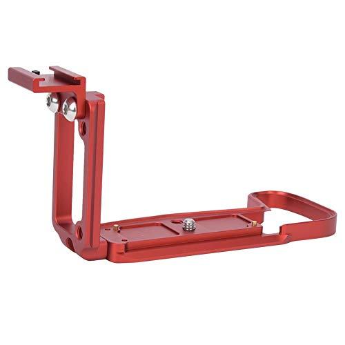 Topiky L-Förmige Schnellwechselplatte, Vertikales Schießbrett L-Halterung Handgriff Haltegriff mit Verlängerter Kaltschuhhalterung, 39mm Standard AS Interface für Canon EOS RP-Kamera(rot)