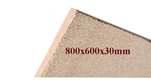 Vermiculite Brandschutzplatte | 800x600x30mm | Schamotte-Ersatz