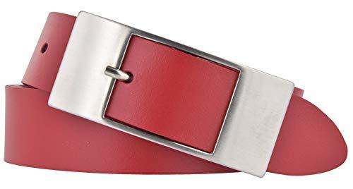 Bernd Götz Damen Leder Gürtel 35 mm Rot Rindleder Damengürtel Ledergürtel (95)