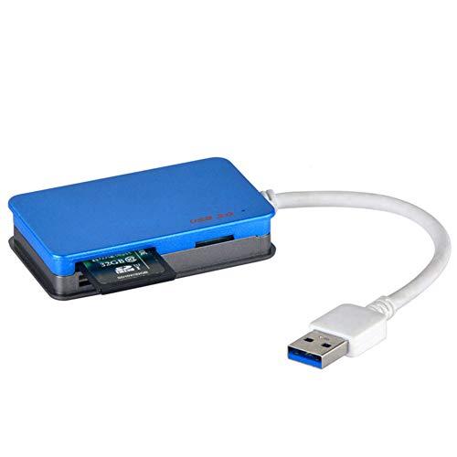 ZXY High-Speed-USB-3.0-Kartenleser, Multi-Kartenleser für Computer Support Sd TF MS CF Card Slot unterstützt bis zu 512 GB Kartenleser