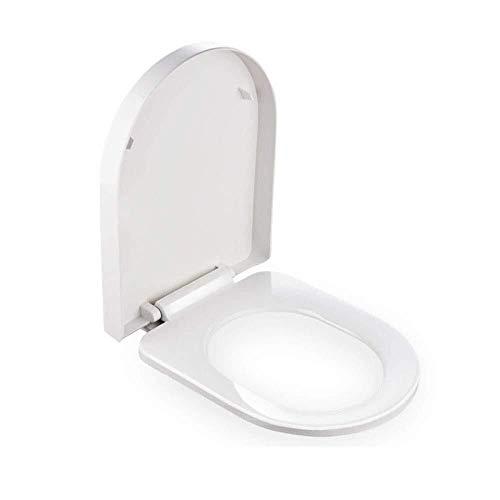 Hyzb Tapa del Inodoro Tapa for Inodoro Grande en Forma de U con Tapa de búfer de liberación rápida Cubierta de Inodoro Ultra Resistente de Montaje rápido for baño (Color : A, Size : 40)