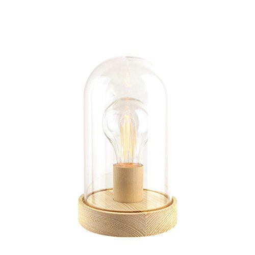 THE HOME DECO FACTORY HD1567 Déco lumineuse cloche vintage, PP, Marron