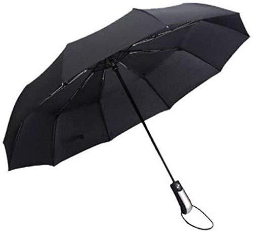 Regenschirm Dreifache Ten-Bones Erhöhen Sie wasserdichte kleine robuste winddichte tragbare licht reisen regenschirm faltsame sonne automatische markise-navy Regenschirm winddicht schöne hellweigh meh