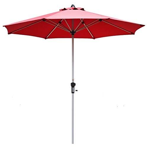 Homeura 9' Patio Outdoor Market Umbrella with Aluminum Pole-Burgundy