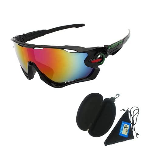 Longwu Gafas de sol deportivas polarizadas, protección UV 400, gafas deportivas irrompibles, gafas de sol deportivas para mujeres y hombres en ciclismo, correr, golf, pesca