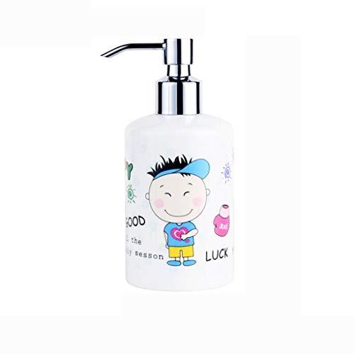 Dispensador de líquido Botella creativa Loción manual dispensador de jabón botellas de plástico desinfectante de la mano del dispensador del jabón 360ml Dispensador de jabón líquido para manos recarga