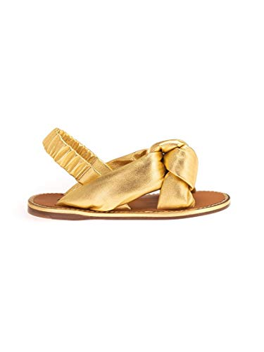 Miu Miu Luxury Fashion Damen 5X111DFM0053LABF0056 Gold Leder Sandalen | Frühling Sommer 20