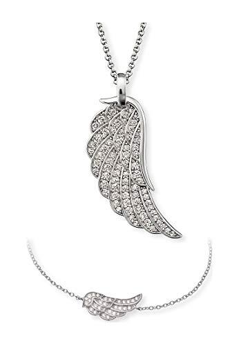 Engelsrufer Damen-Schmuck-Set Set Flügel Kette mit Armband 925er Silber One Size 87847551