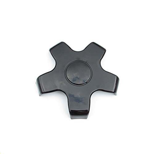 NO LOGO LMY-CHELUN, for Tesla Model 3 ABS Carbon-Faser-Hub-Rad-Mitte-Kappen Kappen-Abdeckung Staubdichtes Rad Zierleisten Auto Exterior Zubehör (Color : Black)