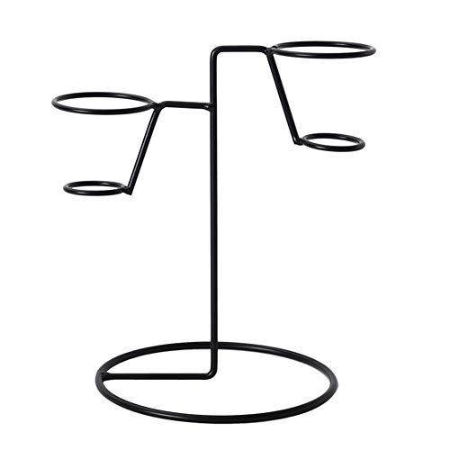 ORETG45 - Soporte para conos de helado, conos de magdalenas, soporte para conos de chips, soporte para tienda, No nulo, negro, l: about 16 x 18cm(bottom dia. x h)