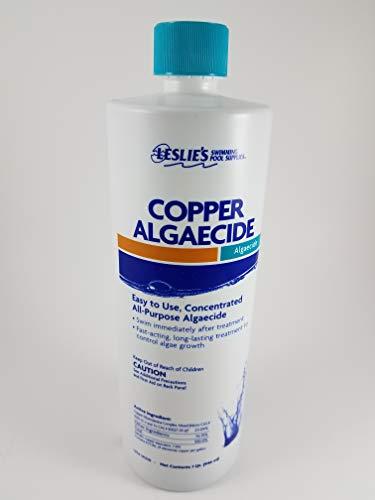 Leslie's Copper Algaecide Algae Preventer [1 Bottle=1 Quart]