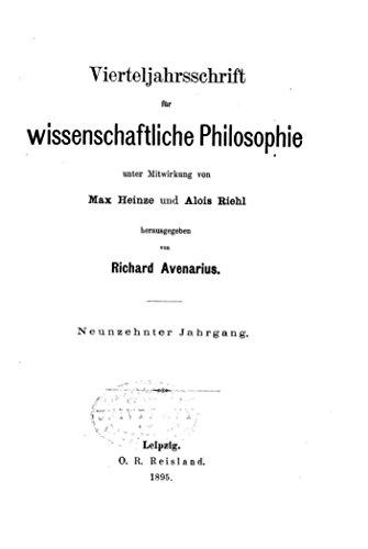 Vierteljahrsschrift für Wissenschaftliche Philosophie und Soziologie (German Edition)