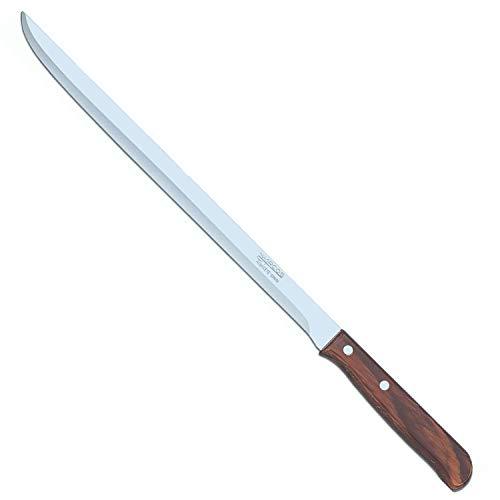 Arcos Serie Latina - Schneidmesser Schinkenmesser - Klinge Nitrum Edelstahl 250 mm - HandGriff Pack-Holz Farbe Braun
