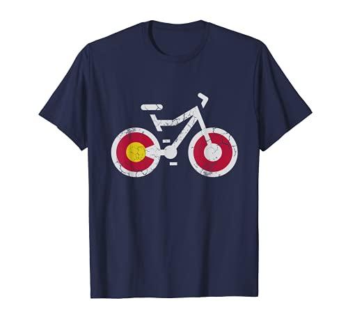 Colorado Flag Bike T-Shirt Men Women Kids Gift T-Shirt