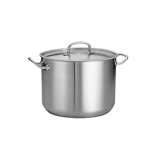 Tramontina Covered Stock Pot Pro-Line Stainless Steel 16-Quart, 80117/580DS