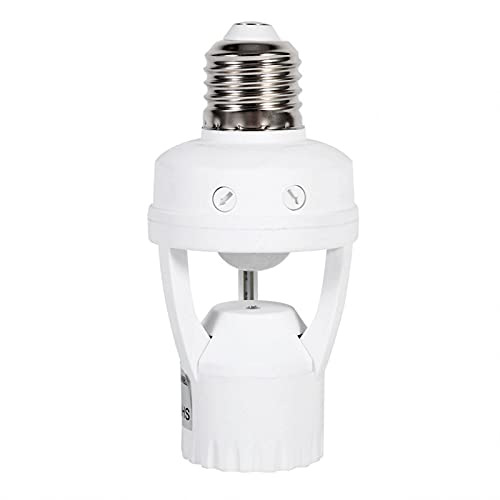 Cloudbox Sensor de Infrarrojos, Enchufe LED E27, Sensor de Movimiento por Infrarrojos, lámpara LED, portalámparas, Enchufe de luz con Interruptor Ajustable