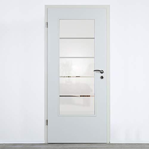 Lichtausschnitt Verglasung für Zimmertüren Designglas 4mm ESG (ESG 410 x 1420 mm)