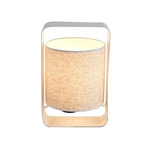 ViewSys Lámparas de mesa, personalidad simple moderna minimalista dormitorio de la lámpara de noche, las luces de Artes Creativas de tela nórdica personalidad de la manera decorativa lámparas de mesa,