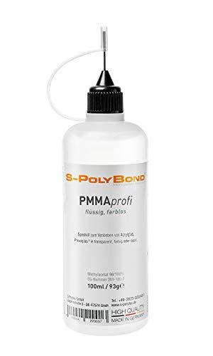 S-PolyBond® Acrylglas, Plexiglas Kleber, Klebstoff, Kaltschweißkleber | 100ml | geeignet auch zum Verkleben von ABS, ASA, SAN, PVC, PS (1, Acrylglas/Plexiglas Kleber)