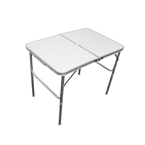 MERMONT アルミレジャーテーブル 折りたたみ ホワイト/白 [幅 90cm]