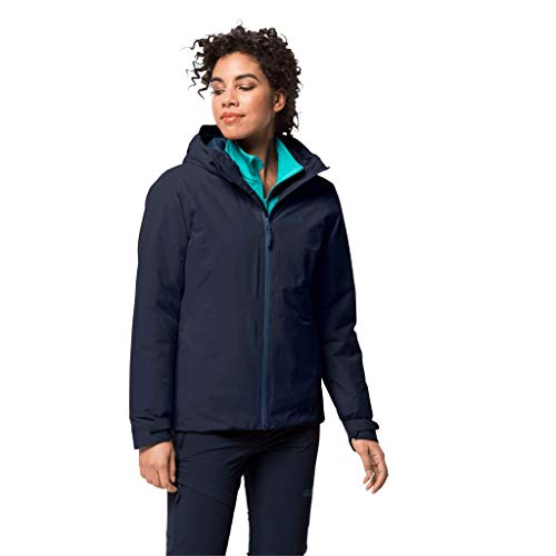 Jack Wolfskin Damen Argon Storm Jacket W wasserdichte Winterjacke, Midnight Blue, L