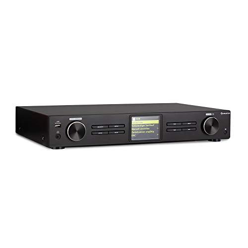 auna iTuner 320 - sintonizador Digital HiFi, Spotify Connect, WLAN, Internet, Dab+ y Radio FM, USB, Pantalla HCC, Salidas de Audio ópticas y Digitales,Mando a Distancia, Función Bluetooth, Negro