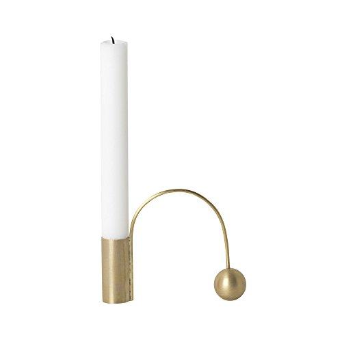 Ferm Living Balance Kerzenhalter, Messing matt poliert LxBxH 12.5x4.2x9cm