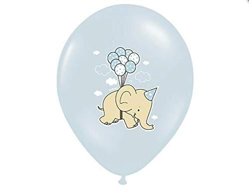 Feste Feiern Luftballon-Deko I 10 Teile Blau Ballons Elefanten I Dekoration Geburt Geburtstag Taufe