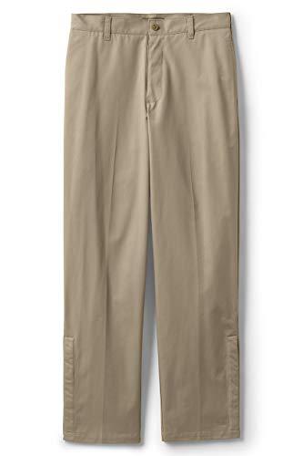 Lands' End School Uniform Men's Adaptive Blend Chino Pants 44 Khaki